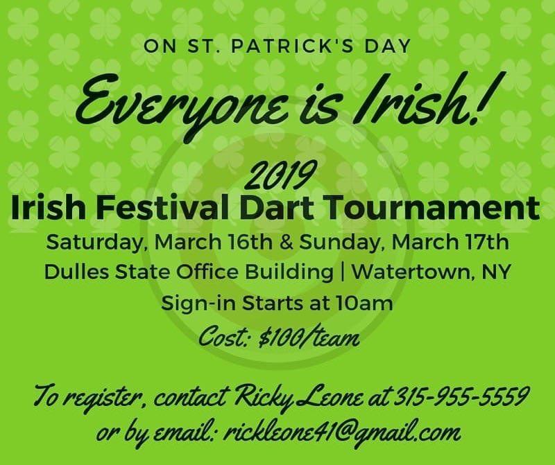 North Country Irish Festival - Matt Brenon Memorial Dart Tournament-2019